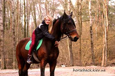 Horse Riding in the forest